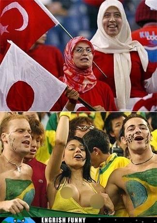 brazil chicken engrish funny soccer soccer fans Turkey - 6399487232