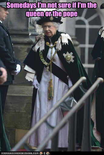 political pictures pope Queen Elizabeth II - 6399572480