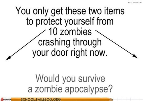 class is in session,would-you-make-it,Zombie Survival 101,zombie