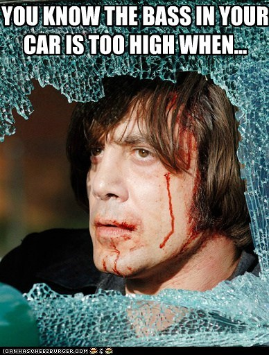 YOU KNOW THE BASS IN YOUR CAR IS TOO HIGH WHEN...