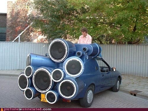 car dj mobile speakers wtf