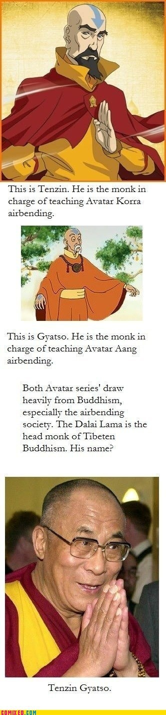 Avatar the Last Airbender,buddhism,Dalai Lama,mind blown,tenzin,TV