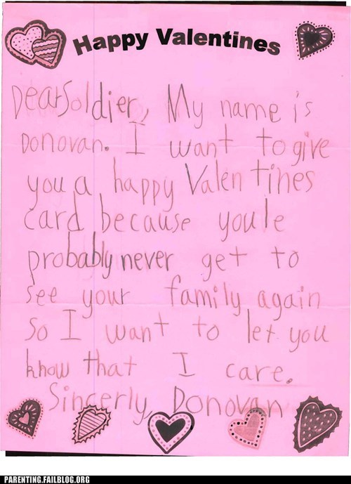 childrens-writing military soldier Valentines day - 6399928832