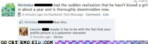 Awkward,facebook,forever alone,Pokémon,weird kid