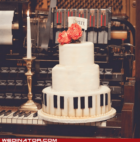 cake funny wedding photos Music piano wedding cake - 6399937792