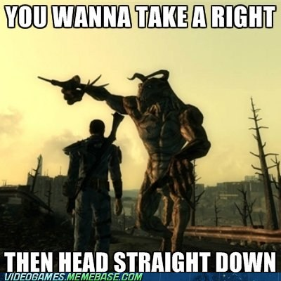 deathclaw,directions,fallout,helpful deathclaw,meme