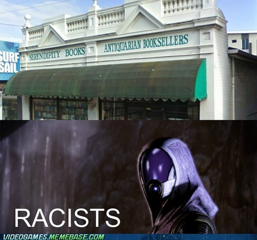 bookstore geth IRL quarians racist