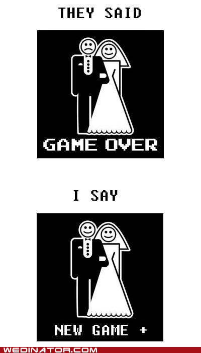 attitude,bride,funny wedding photos,groom,marriage,video games