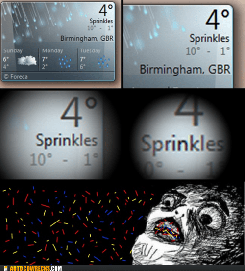 literal,not what it meant,sprinkles,weather