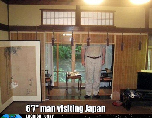 Japan tall guy tall man visiting japan