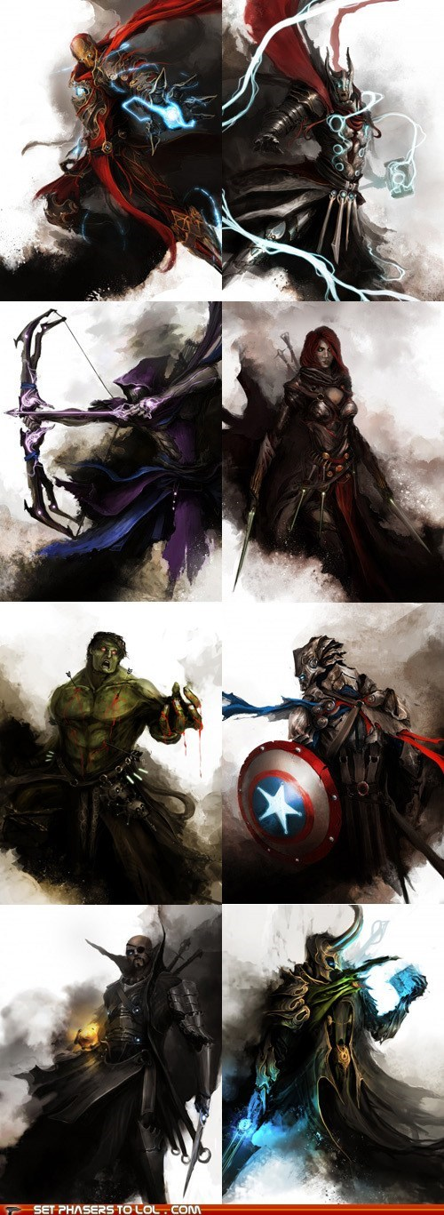 avengers,best of the week,Fan Art,fantasy,hulk,iron man,loki,superheroes