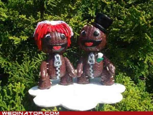 Littlebigplaet video game sackboy cake topper - 6400130048
