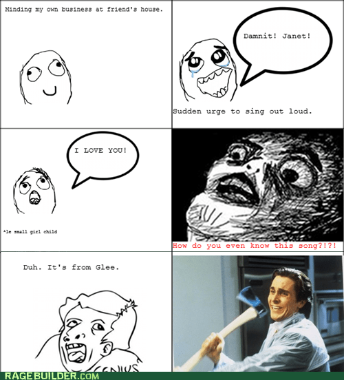 glee,Music,Rage Comics,raisin face