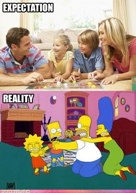 animation,expectation vs reality,funny,the simpsons,TV