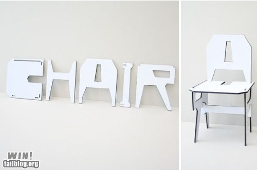 chair clever design words - 6400270080
