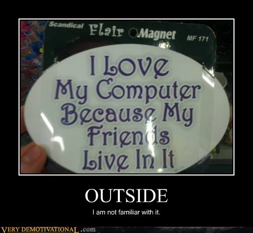 computer,hilarious,outside,Sad