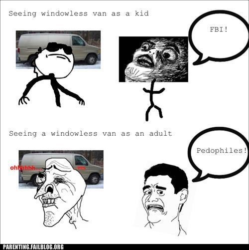 FBI pedophiles Rage Comics windowless van