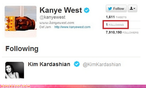 celeb funny kanye west kim kardashian Music rap reality tv tweet twitter - 6400308224