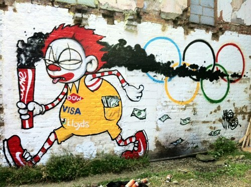 olympics,commercialism,McDonald's,graffiti,art