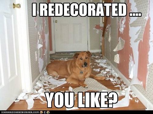 I REDECORATED .... YOU LIKE?