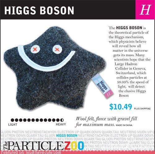 higgs boson Large Hadron Collider particle Plush smile - 6401238272
