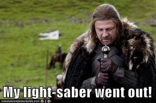 a song of ice and fire Eddard Stark Game of Thrones lightsaber out pointing sean bean - 6401390592