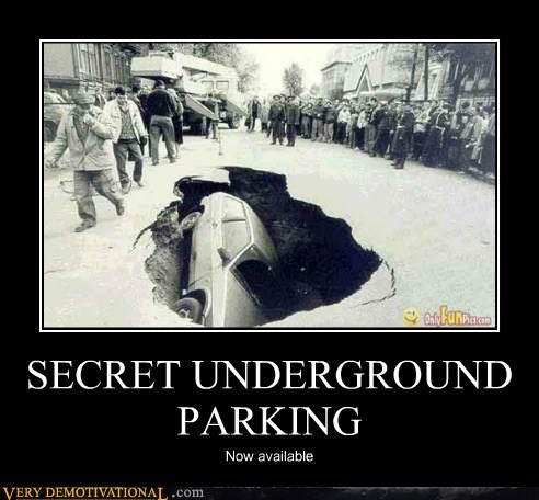 car,hilarious,parking,underground,wtf