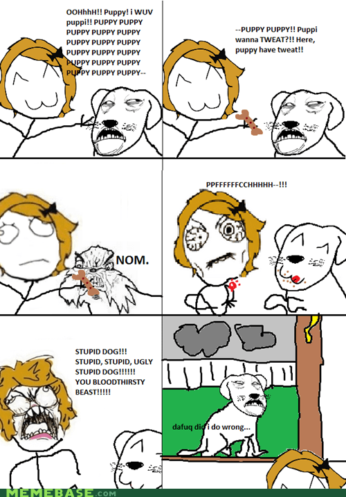 bite dafuq dogs Rage Comics - 6401500160