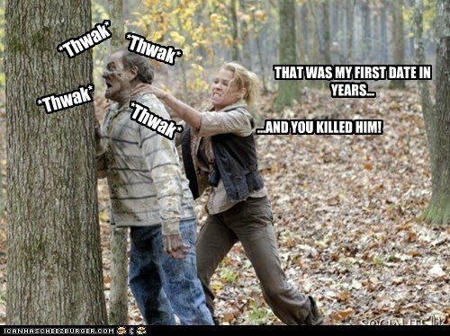 andrea angry beating date killed laurie holden tree The Walking Dead zombie - 6401628160