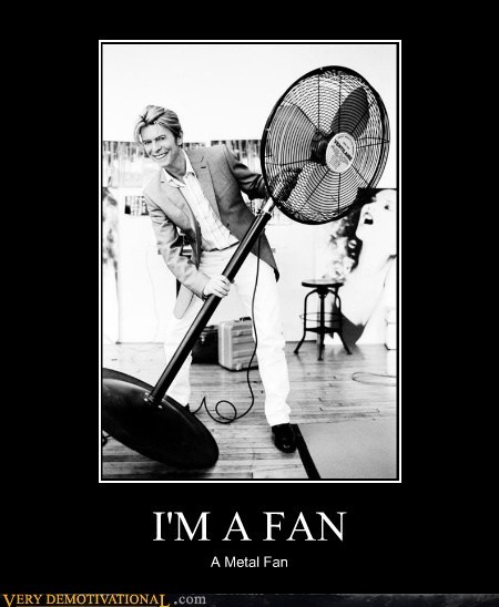 biggest fan,david bowie,hilarious,metal