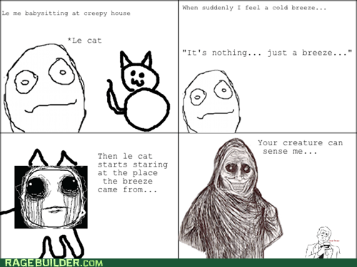 babysitting cat creepy Rage Comics shadowlurker - 6401690624