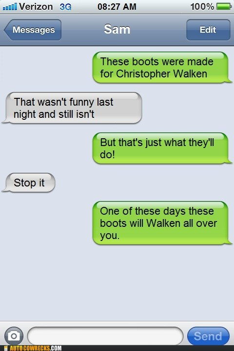 christopher walken cut it out not funny stop it - 6401814528