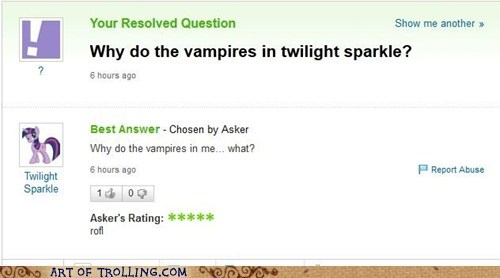 stay away the internets twilight sparkle vampires yahoo answers
