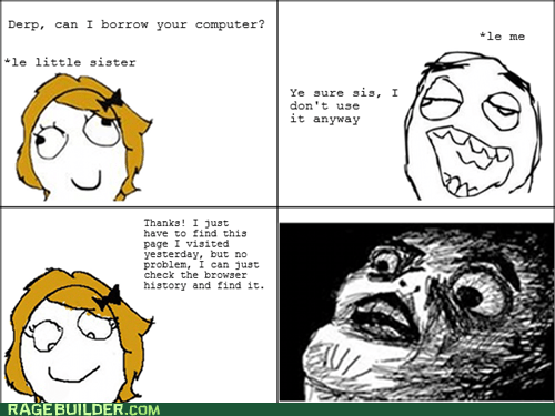 browser history,pr0ntimes,Rage Comics,raisin face