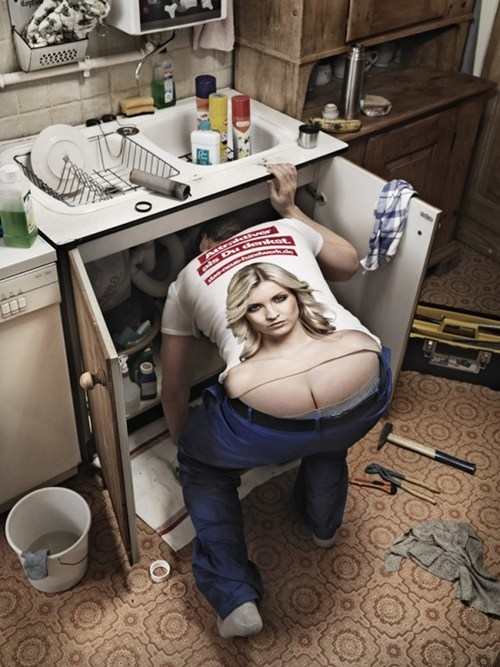 cheeky campaign,german craftsmanship,Marketing Campaign,plumbers crack