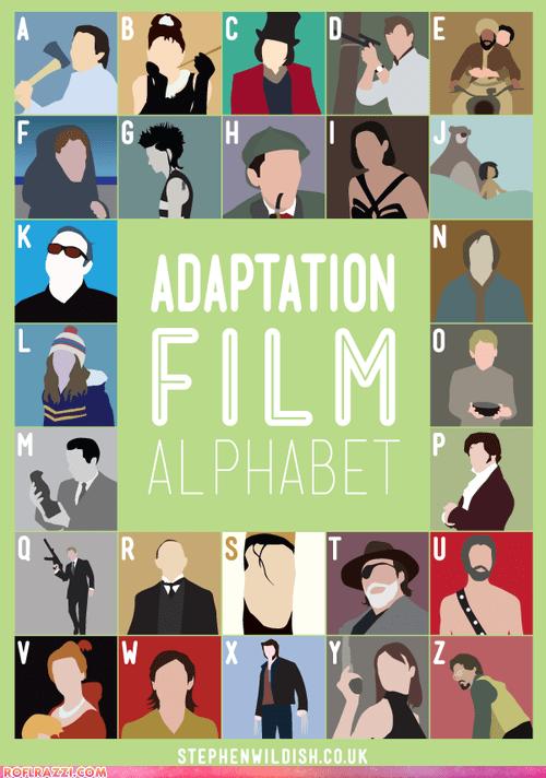 alphabet art Movie movies poster - 6402396160