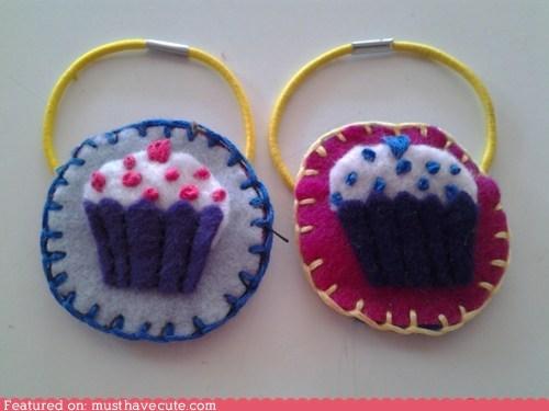 accessories cupcakes felt hair - 6402533888