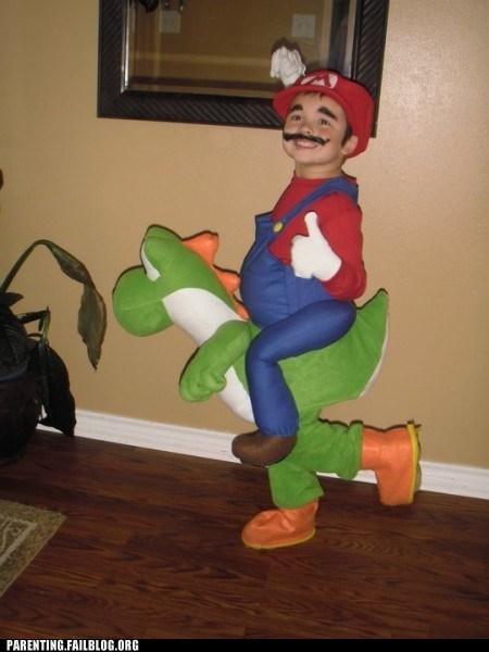 childrens-costumes,mario,yoshi