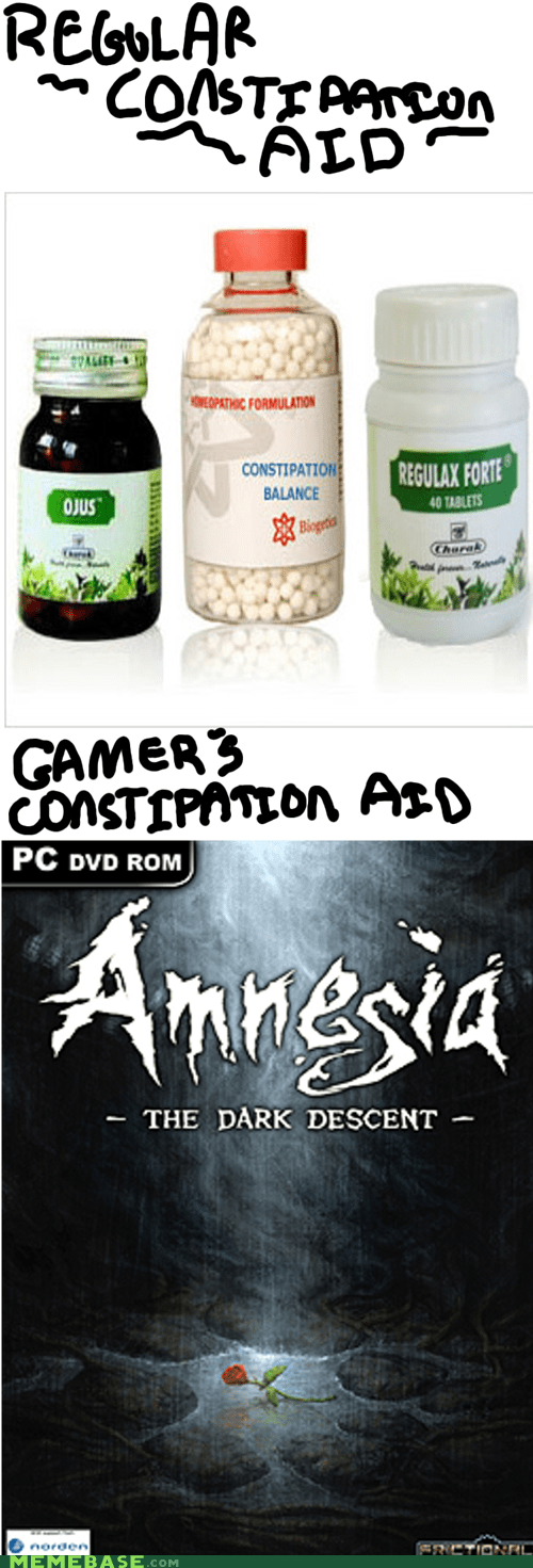 amnesia,constipation,PC,pooping