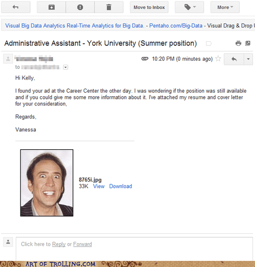 nick cage resume work - 6402577152