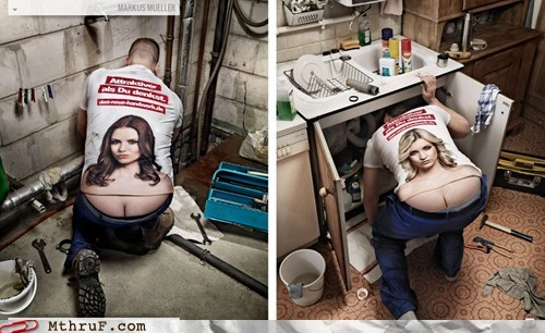 german advertisement Hall of Fame plumber plumbers-butt - 6402597888