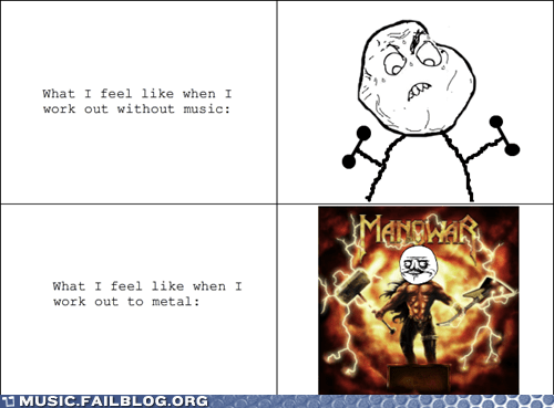 comic gym manowar metal rage comic strong working out - 6402607104