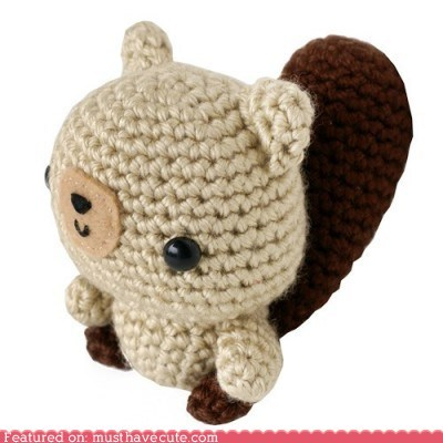 Amigurumi Crocheted Plush squirrel yarn - 6402647808