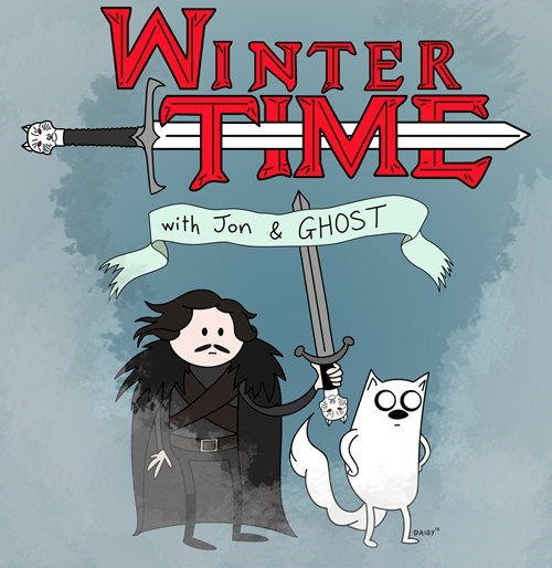 adventure time,crossover,Fan Art,Game of Thrones,jon stark