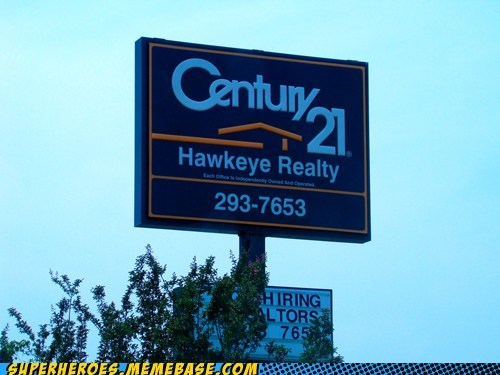 avengers,century 21,hawkeye,job,Random Heroics,real estate
