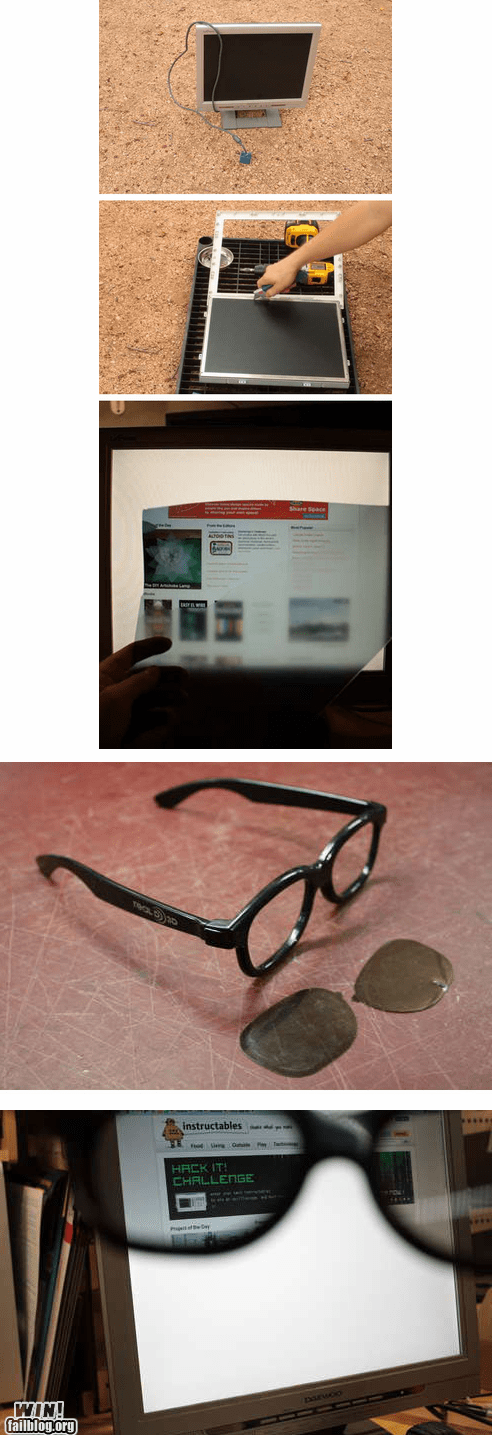 classic glasses hack monitor privacy