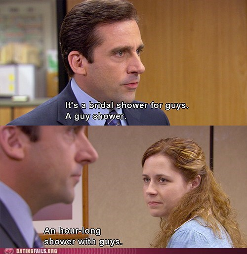 bridal shower Michael Scott no homo pam the office - 6403090176
