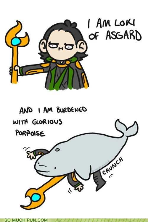 burden literalism loki marvel porpoise purpose similar sounding The Avengers - 6403165184