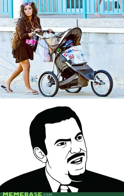beer,jersey shore,Memes,mom,motherhood,seriously,snooki,stroller
