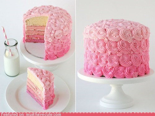cake,epicute,fade,frosting,ombre,pink,swirls